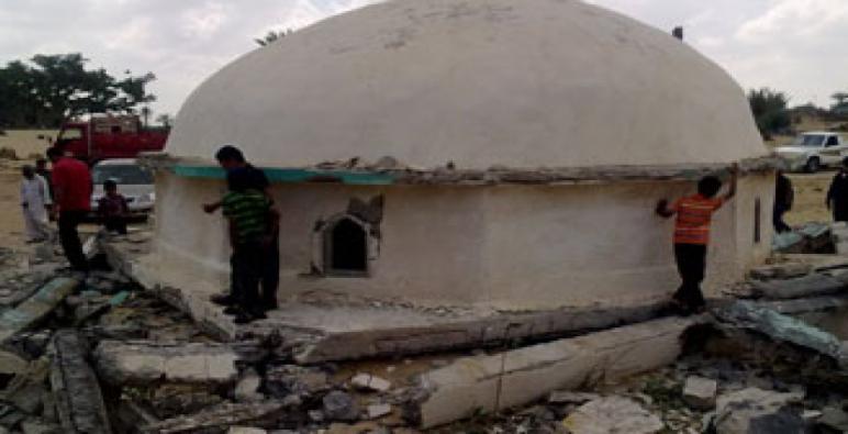 تفجير ضريح أحد الصحابة في محافظة شمال سيناء